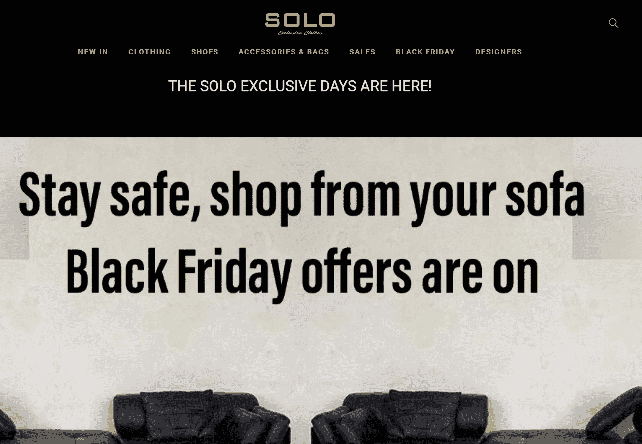 Solo exclusive clothes eshop development